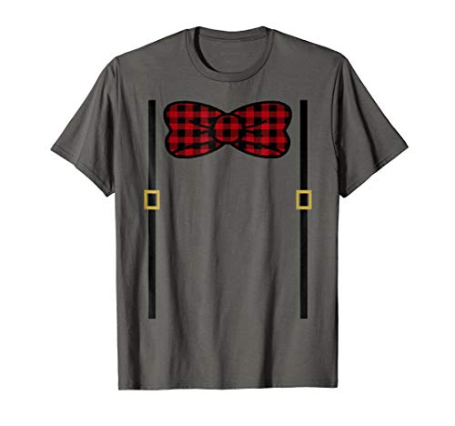 Lumberjack Buffalo Plaid Bowtie T-Shirt Birthday Outfit