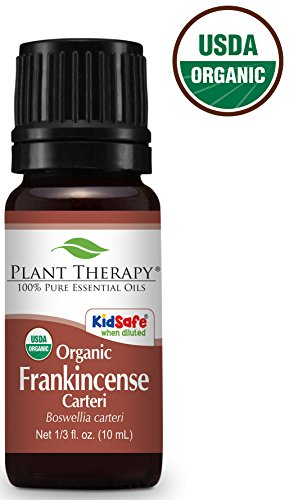 Plant Therapy USDA Certified Organic Frankincense Carteri Essential Oil. 100% Pure, Undiluted, Therapeutic Grade. 10 mL (1/3 Ounce). 100% African Essential Oil