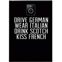 Drive German, Kiss French Quote Art Dell Venue 8 Vinyl Decal Sticker Skin by MWCustoms