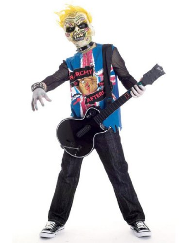 Rock Zombie Costume (Zombie Icons Punk Rawk Costume, Medium (7/8))