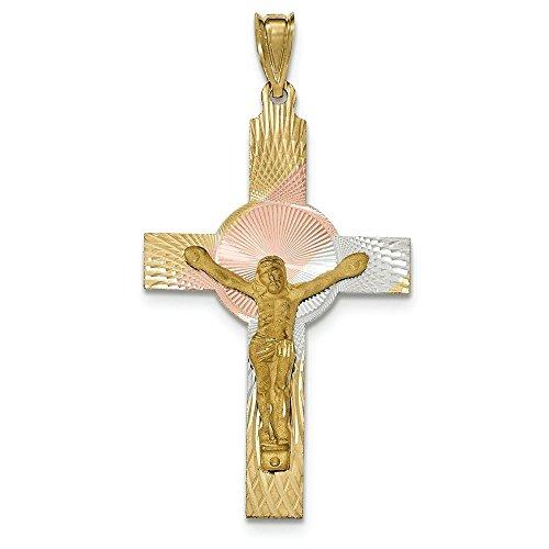 14 carats et Rhodium Iona JewelryWeb-Pendentif en forme de croix