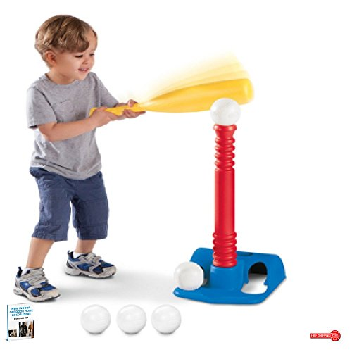 Kid's Batting Training Set, Improve Eye & Hand Coordination, Includes 5 Balls, Adjustable Height & eBook Home Décor by LT