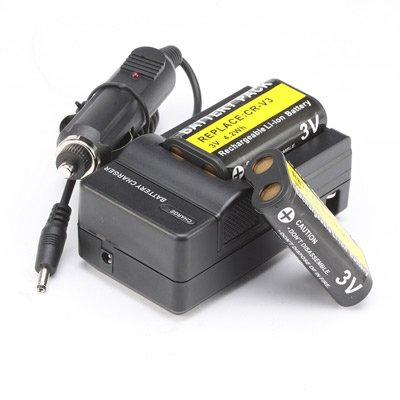2 Battery&Charger for OLYMPUS SP-310 SP-350 C-740 Camera