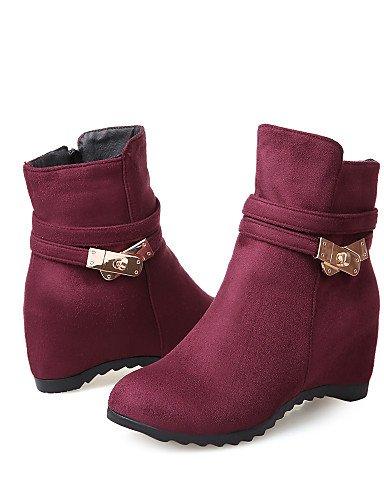 Moda A 5 5 Punta Uk8 Zapatos Negro Vestido us5 Cuña Botas Red Casual Rojo De Mujer Xzz Azul 5 Redonda Blue Cuñas Cn43 5 La us10 Uk3 Eu42 Tacón Cn35 Eu36 Vellón PAzRdwq