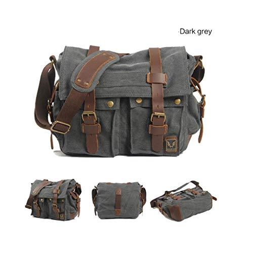 Hombro Hombres Simple Bolsa Maletín 4 Gray De Retro Impermeable Para 72 Lona 11 Mensajero 13 El La 77 02in Cámara x7qPgxY
