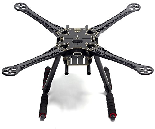 Readytosky S500 Quadcopter Frame Stretch X FPV Racing Drone Frame Kit PCB Version with Carbon Fiber Landing (Carbon Fiber Landing Gear)