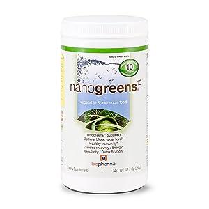 Biopharma Scientific NanoGreens 10, 12.7-Ounce (Packaging May Vary) / Green Apple