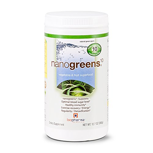 Biopharma Scientific NanoGreens 10, 12.7-Ounce (Packaging May Vary) / Green Apple