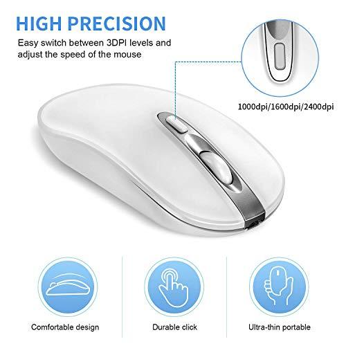 9185d89f152c Mice - Wireless Bluetooth Mouse, Cimetech Rechargeable Cordless ...