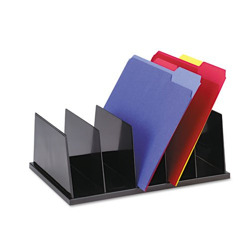 Universal : Large desktop sorter, 5 sections, plastic, 13 7/8 x 18 7/8 x 6, black -:- Sold as 2 Packs of - 1 - / - Total of 2 Each