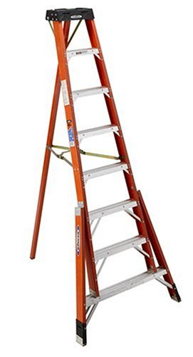Werner FTP6208 300-Pound Duty Rating Fiberglass Tripod Ladder, 8-Foot