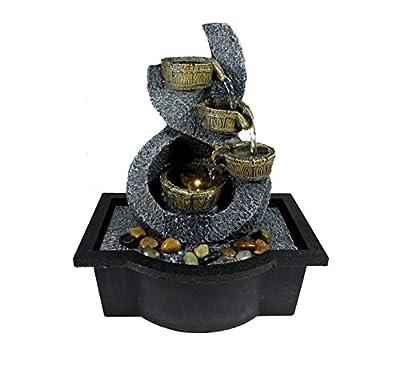 Tabletop Fountain 4 Water Falling Buckets On Stone Art