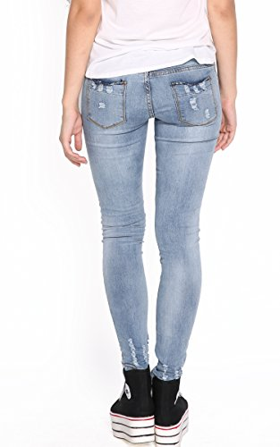 ACEVOG® Women's High-Waisted Ankle Length Jeans