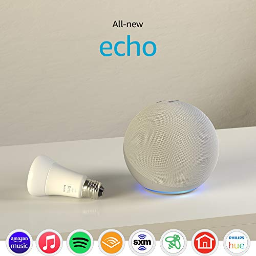 All-new Echo (4th Gen) with Philips Hue Bulb   Glacier White