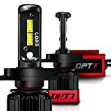 OPT7 Fluxbeam CORE H4 9003 LED Headlight Bulbs with FX-7500 CREE Chip Plug-N-Play Conversion Kit - 6,000LM 6000K Cool White - Built. Not Bought.