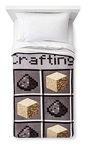 Minecraft Plush Throw Blanket Crafting Blocks 62