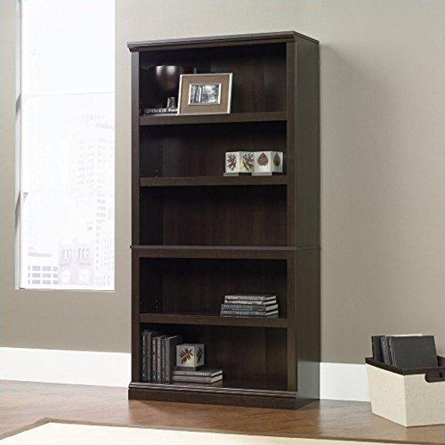 Sauder Miscellaneous Storage Bookcase, Cinnamon Cherry finish