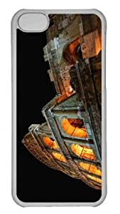 Customized iphone 5C PC Transparent Case - Colosseum At Night Personalized Cover by lolosakes
