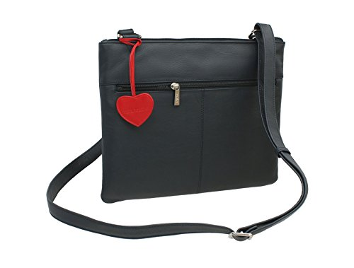 Shoulder Body 7133 Navy Cross Leather Collection Bag Candy Leather Mala 75 ANISHKA wnqR6UqI