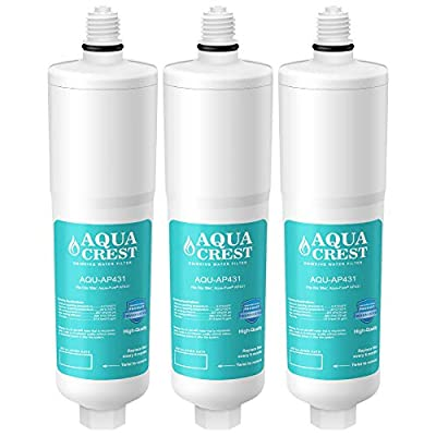 AQUACREST AP431 Replacement Under Sink Water Filter, Compatible with Aqua-Pure AP431 Scale Inhibition Water Filter for AP430SS (Pack of 3)