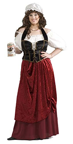 Halloween Costumes Tavern Wench (Forum Novelties Women's Tavern Wench Plus Size Costume, Multicolor,)