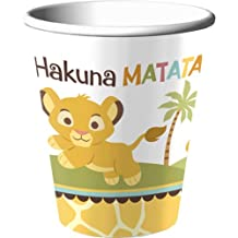 Hallmark Disney Lion King Baby Shower 9 Oz. Paper Cups (8) Party Accessory