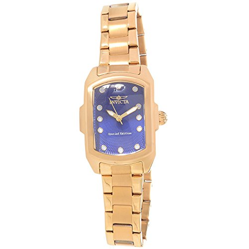 Invicta Lupah Blue Dial Gold-plated Ladies Watch 16284