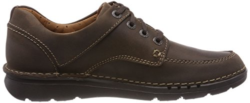 Uomo Time Clarks Brown Marrone Derby Dark Lea Unnature Stringate Scarpe 5OXFqUXw