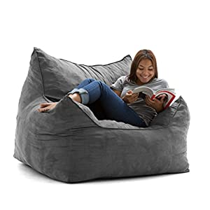 Big Joe Imperial Lounger in Comfort Suede Plus, Cement