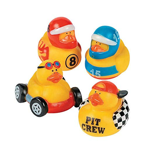 Rubber Car Race Ducks - tkpartysupplies4u 12 Race Car Driver Rubber Ducks Party Favors Cake Toppers Nascar Racing