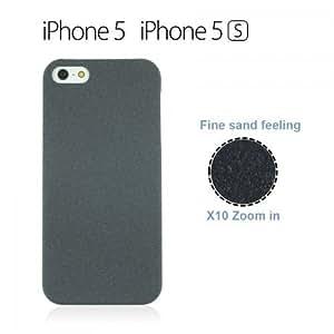 LJF phone case OnlineBestDigital - Frosted Surface Hard Back Plastic Case for Apple iPhone 5S / Apple iPhone 5 - Black