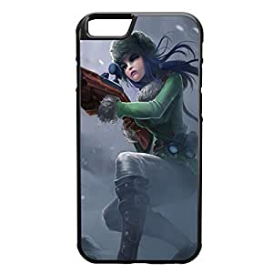 Caitlyn-002 League of Legends LoL case cover for Apple iPhone 6 - Rubber Black