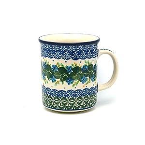 Polish Pottery Mug – Straight Sided – Ivy Trail