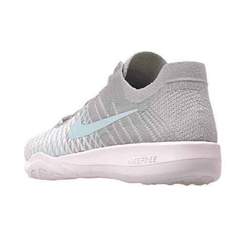 NIKE Free Tr Flyknit 2 Size 9.5 Womens Cross Training Wolf Grey/Glacier Ice-White Shoes