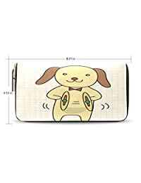 Yochoice Women Lady Wallet,Cute Cartoon Music Dog,Purse Credit Card Holder Case