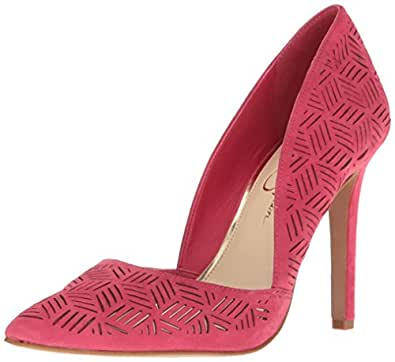 Jessica Simpson Women's Charie Dress Pump, Sunset Pink, 5 M US