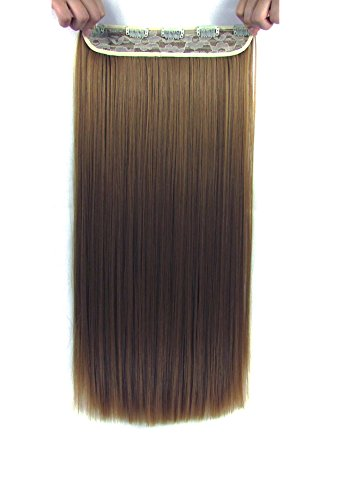 Beaute Galleria – 22 Inches Clip In Synthetic Hair Extensions (Straight) (Dark (Simpsons Halloween 22)