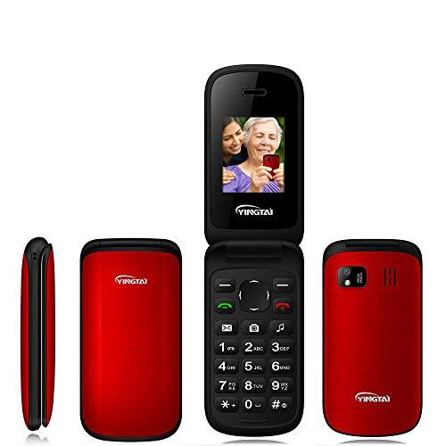 Peedeu Unlocked Senior Flip Phone,1.77-inch Screen 2G T-Mobile Basic Cell Phone with Large Button Large Speaker,Dual…