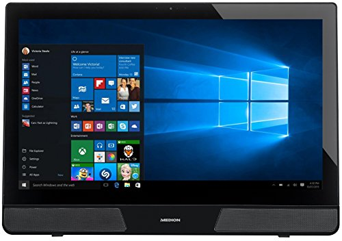 Medion All-in-One P5124 59,9 cm (23,6 Zoll) Desktop-PC (Intel Pentium J2900, 8GBHDD, 1TB HDD, HD Graphics, Win 8.1 Touchscreen) schwarz/alto grey