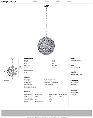 ET2 Lighting E22093-28 Pendant with Clear Murano Glass Shades