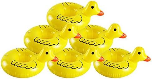 Juego de 6 vasos inflables de pato amarillo flotantes para bebidas ...