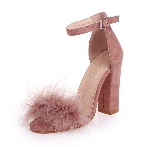 Femeninos 10Cm El Sandals Zapatos Alto Los Singles Eu36 por High SHOESHAOGE Hembra Aldabas Heeled EU39 Dew Seguido Light IzxWw6nEvq