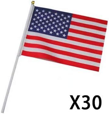 14 21 cm *** PROMOTION *** 10pcs Drapeau Etats Unis USA