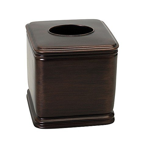 India Ink Winston Boutique Tissue Box Cover in Oil Rubbed Bronze by Generic