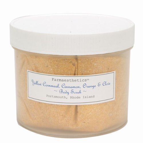 Farmaesthetics Yellow Cornmeal, Cinnamon, Orange and Clove Body Scrub - 32oz