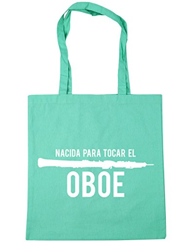 HippoWarehouse Nacida Para Tocar El Oboe Bolso de Playa Bolsa Compra Con Asas para gimnasio 42cm x 38cm 10 litros capacidad Menta