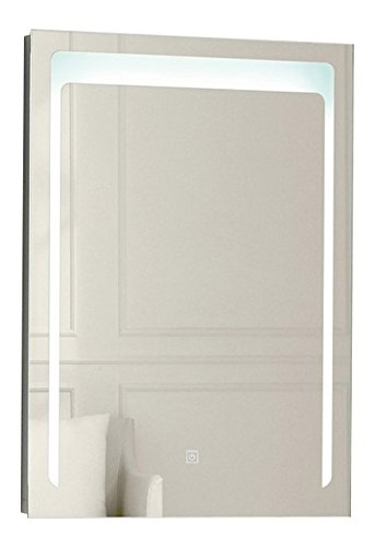 "SUNNY SHOWER Backlit Led Bathroom Vanity Sink Silvered 4mm Mirror With Touch Button, 24"" W X 32"" L"