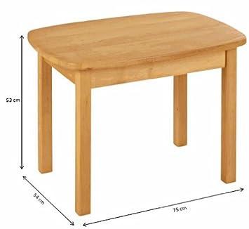 BioKinder Kindertisch Spieltisch Holztisch Levin aus Massivholz Erle 75 x 54 x 52 cm
