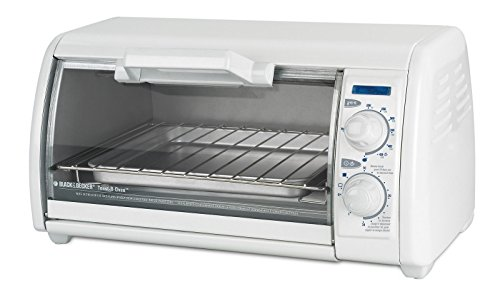 Black & Decker 4- Slice White Toaster Oven for Toasting, Baking, Broiling and Reheating (White Compact Toaster Oven compare prices)