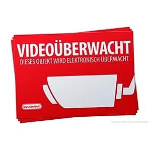 'Netbote24–Pegatinas de advertencia DIN A5(21× 14,8cm) Videovigilancia